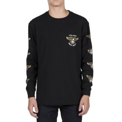 T-SHIRT VOLCOM ANTI LONG L/S YOUTH - BLACK