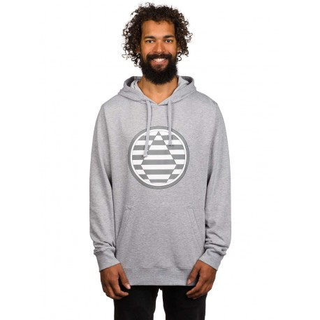SWEAT VOLCOM STRIPED STONE FLEECE HOODIE- HEATHER GREY