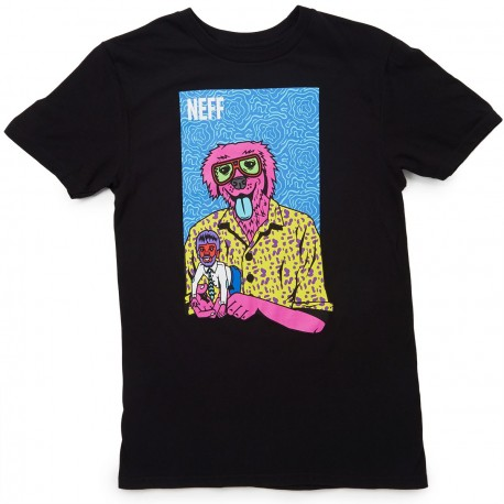 TEE SHIRT NEFF THE WEIRD TEE - BLACK