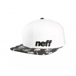 CASQUETTE NEFF DAILLY PATTERN CAP - WHITE DOI