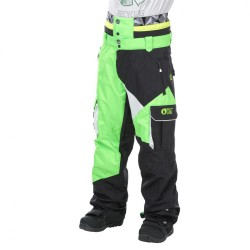 PANTALON PICTURE ORGANIC STYLER PANT - NEON GREEN / BLACK/ WHITE