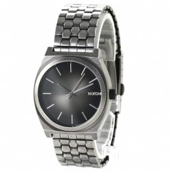 MONTRE NIXON TIME TELLER - ANTIQUE SILVER / BLACK