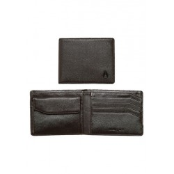 PORTEFEUILLE NIXON ARC BI - FOLD WALLET - BROWN