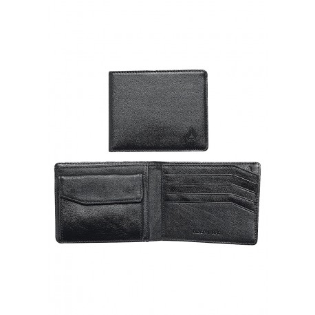 PORTEFEUILLE NIXON ARC BI - FOLD WALLET - ALL BLACK