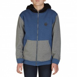 SWEAT VOLCOM SINGLE STONE SHERPA ZIP - BLEU GRIS BLACK