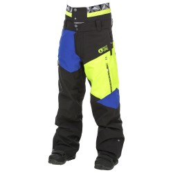 PANTALON PICTURE NOVA PANT 2017 - BLACK / NEON YELLOW / FLYIN