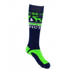 CHAUSSETTE PICTURE KNIT - NEON/GREEN