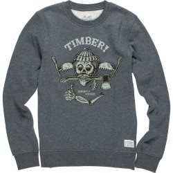 SWEAT ELEMENT TIMBER CREWNECK BOY - GRIS ANTHRACITE