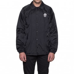 COACH'S JACKET HUF X THRASHER TDS - BLACK