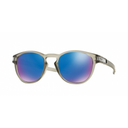 LUNETTE OAKLEY LATCH MATTE GREY INK SAPPHIRE IRIDIUM POLARIZED