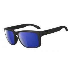 LUNETTES OAKLEY HOLBROOK MATTE BLACK - ICE IRIDIUM POLARIZED