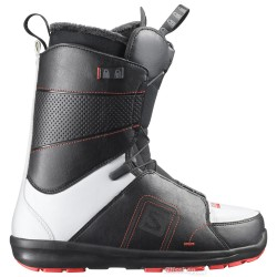 BOOTS SALOMON FACTION - BLACK WHITE - RED RACING