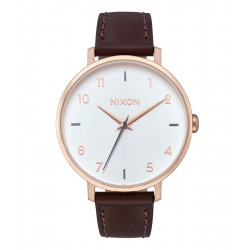 MONTRE NIXON ARROW LEATHER - ROSE GOLD / SILVER