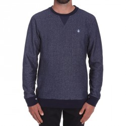 SWEAT VOLCOM STATIC STONE CREW - NAVY