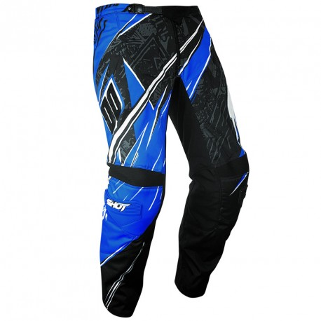 PANTALON RACE SHOT DEVO 14 BLACK BLUE 6/7 ANS