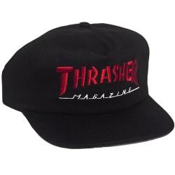 CASQUETTE THRASHER MAGAZINE LOGO TWO-TONE - BLACK / RED