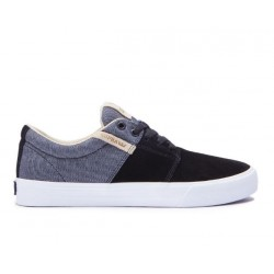 CHAUSSURE SUPRA STACKS VULC II - BLACK WHITE