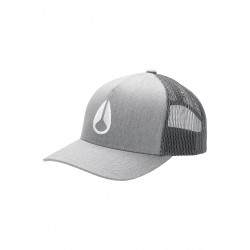 CASQUETTE NIXON ICONED TRUCKER - HEATHER GREY