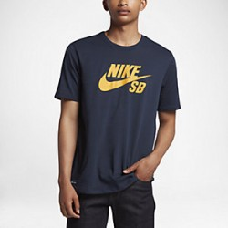 T-SHIRT NIKE SB ICON LOGO - OBSIDIENNE JAUNE TOUR