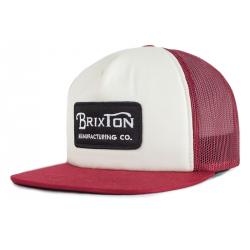 CASQUETTE BRIXTON GRADE MESH - WHITE BURGUNDY