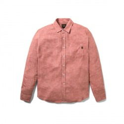 CHEMISE HUF COURSE LS CHAMBRAY - PINK