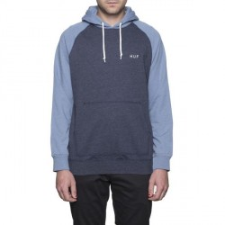 HOODIE HUF DALTON - LIGHT BLUE / NAVY
