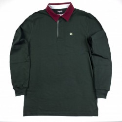 POLO MAGENTA LS - DARK GREEN
