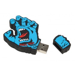 CLE USB 8GO SANTA CRUZ SCREAMING HAND - BLUE