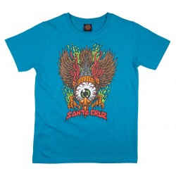 T-SHIRT SANTA CRUZ YOUTH EAGLE EYE - BLUE