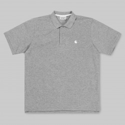 POLO CARHARTT S/S CHASE PIQUE -GREY HEATHER