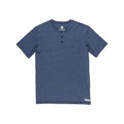 T-SHIRT ELEMENT BASIC HENLEY MIDNIGHT