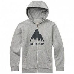 SWEAT ZIPPE BURTON BOYS OAK FZ - MONUMENT HEATHER