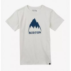 T-SHIRT BURTON BOYS CLASSIC MOUNTAIN - STOUT WHITE