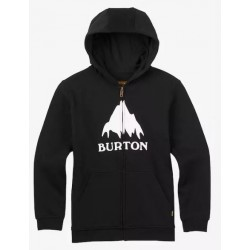 SWEAT ZIPPE BURTON BOYS CLASSIC MOUTAIN - TRUE BLACK