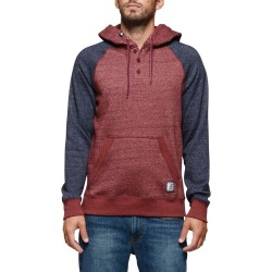 SWEAT ELEMENT MERIDIAN HENLEY - OXBLOOD RED