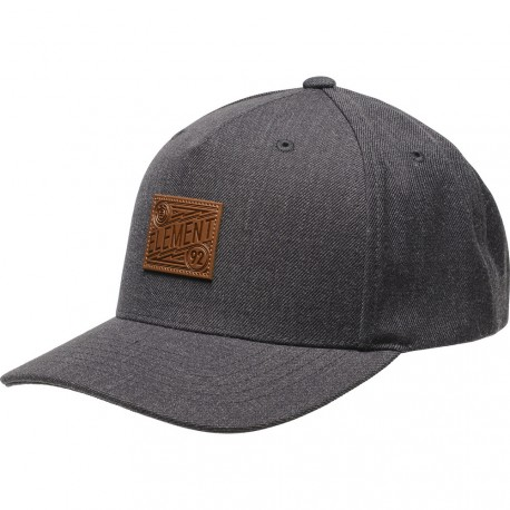 CASQUETTE ELEMENT JAGGER - BLACK GRID HEATHER