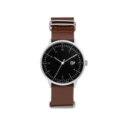 MONTRE CHEAPO HAROLD - SILVER BLACK BROWN
