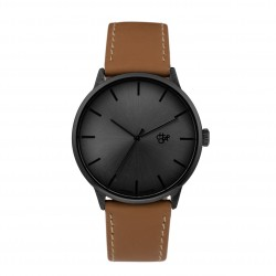 MONTRE CHEAPO KORSHID - FUNK METAL BLACK BROWN VEGAN LTHR