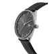MONTRE CHEAPO KORSHID - MATT SILVER BLACK BLACK VEGAN LTHR