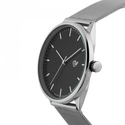 MONTRE CHEAPO NANDO - SILVER BLACK METAL