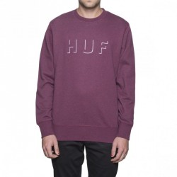 SWEAT HUF SHADOW CREW - PORT / NAVY / HEATHER