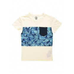 T-SHIRT VOLCOM COSTA FAN LW SS - EGG WHITE