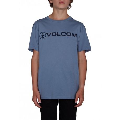 T-SHIRT VOLCOM LINE EURO BSC SS - ASH BLUE