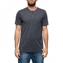 T-SHIRT ELEMENT HENLEY - CHARCOAL HEATHER