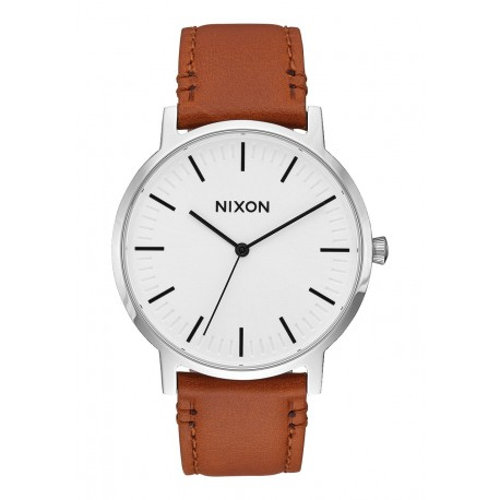 MONTRE NIXON PORTER LEATHER - WHITE SUNRAY / SADDLE