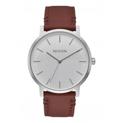 MONTRE NIXON PORTER LEATHER - SILVER / BROWN