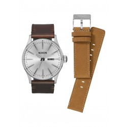 MONTRE NIXON COFFRET CADEAU SENTRY PACK - WHITE / BROWN / TAN