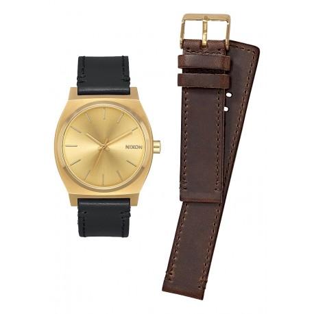 MONTRE NIXON COFFRET CADEAU TIME TELLER PACK - ALL GOLD / BLACK / BROWN