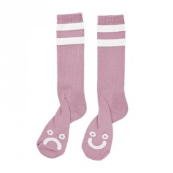 CHAUSSETTES POLAR HAPPY / SAD - DUSTY ROSE