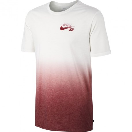 TEE SHIRT NIKE SB DRY - WHITE/TEAM RED/TEAM RED